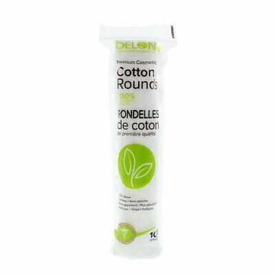 DELON LABORATORIES Premium Cotton Cosmetic Pads/Rounds, Whit