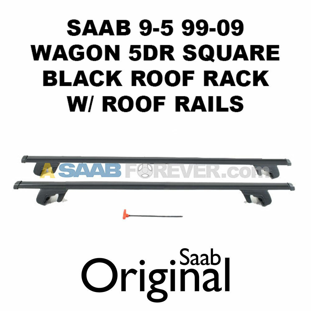 SAAB 9-5 95 SALOON 05-09 Heavy Duty Anti-Theft Steel Roof Rack Cross Rail Bars