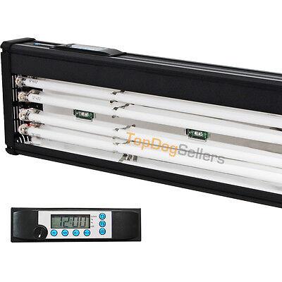 T5 Quad 72 Timer LED Aquarium Light Marine FOWLR Cichlid 4x 80W Odyssea