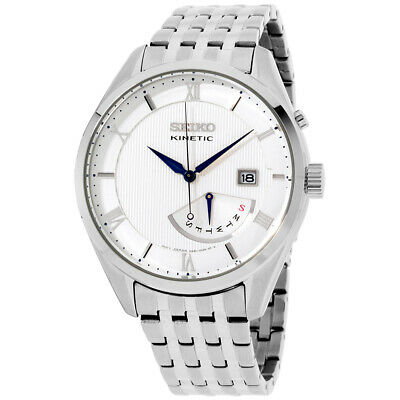 Seiko Core Quartz Movement White Dial Men's Watch SRN055 **Open Box**