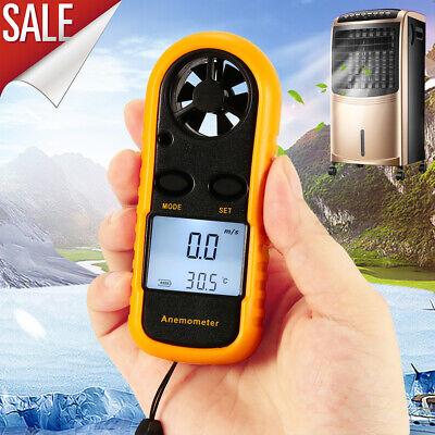 Quality Digital Lcd Air Wind Speed Measure Gauge Meter Anemometer Thermometer Us