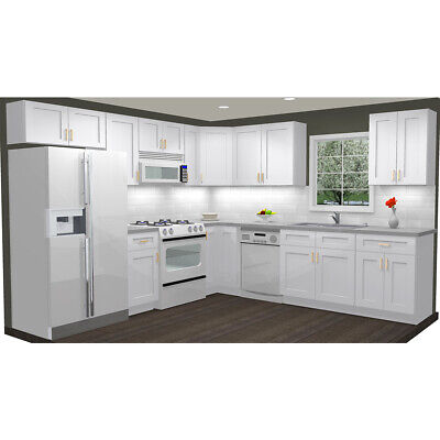 Kitchen Cabinets Wood 10x10 Rta Group Fully Custom Assembled-Summit Shaker White Assemble Kitchen Cabinets