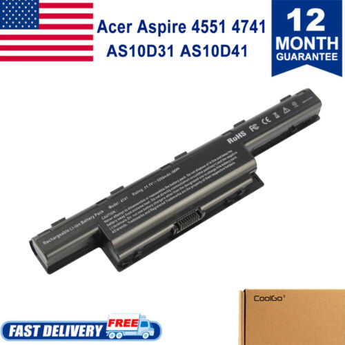 New Battery for Acer AS10D31 AS10D51 Gateway 4741 AS10D71 AS