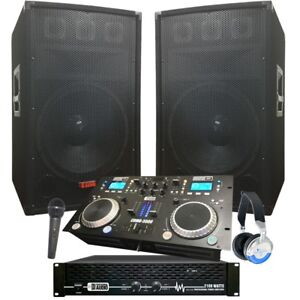 Complete Dj System - 2100 WATTS - Connect your Laptop, iPod, USB, MP3's or Cd's!