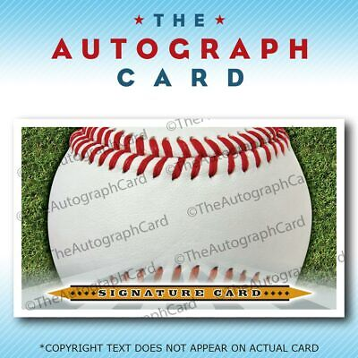Used, Blank Signature cards 3x5 INDEX Baseball autographcard for sale  Columbia