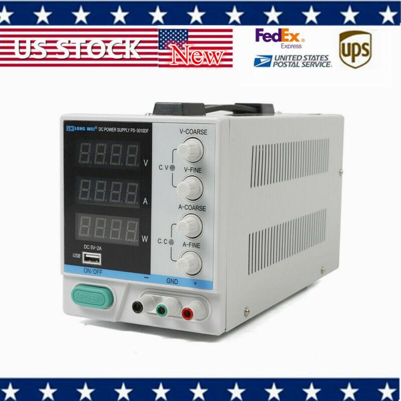 PS-3010DF 110V 30V 10A Adjustable 4-digit LED display DC Power Supply Warranty