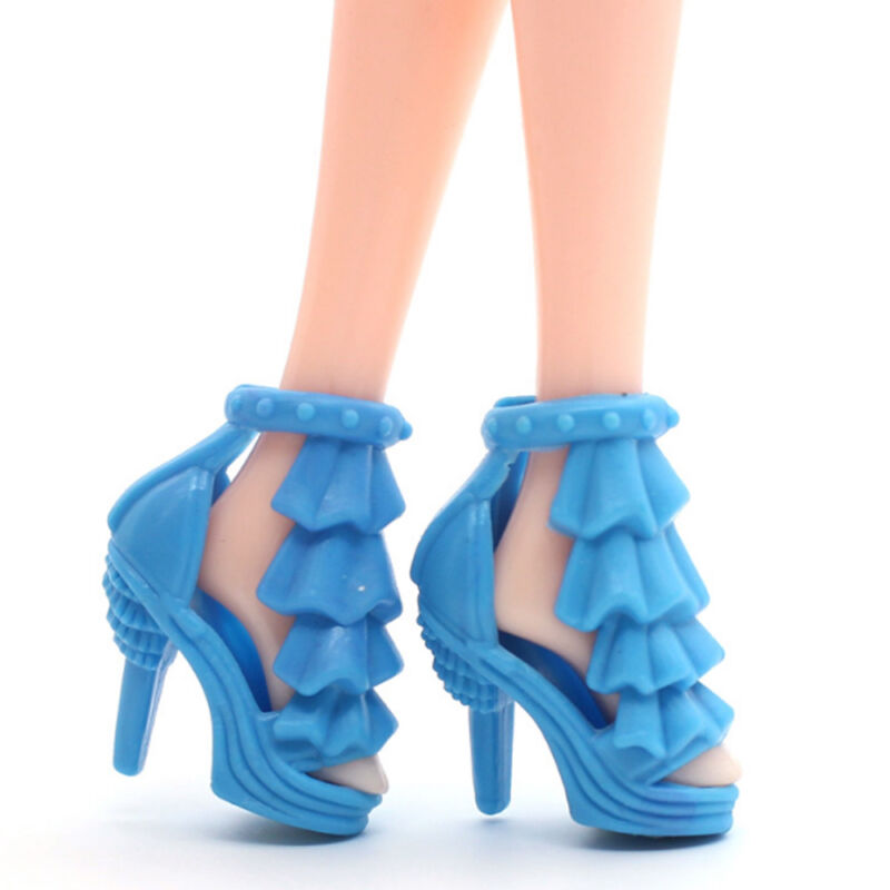 80PCS/40Pairs Different High Heel Shoes Boot For Barbie Doll Dresses Clothes z