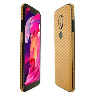 Skinomi Gold Carbon Fiber Skin Cover For T-Mobile REVVLRY 5.7 Inch Display  - $15.95