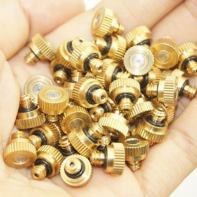 20pcs Brass Misting Nozzles Water Mister Sprinkle For Cooling System Best