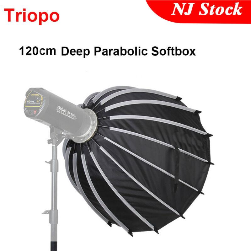 US Triopo Portable 120cm 47.2inch Deep Parabolic Softbox Bowens for Studio Flash