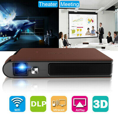 Mini WIFI 3D Projector HD Home Cinema Wireless Airplay DLP Business HDMI