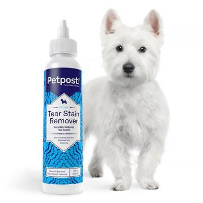 Petpost | Tear Stain Remover for Dogs - Soothing Coconut Oil & Aloe - 8oz.