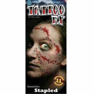 Tinsley Transfers Stapled Halloween Costume Realistic Makeup Tattoo 11 Pieces](Realistic Halloween Makeup)