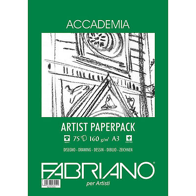 Fabriano Accademia Drawing Paper A3 160gsm 75s