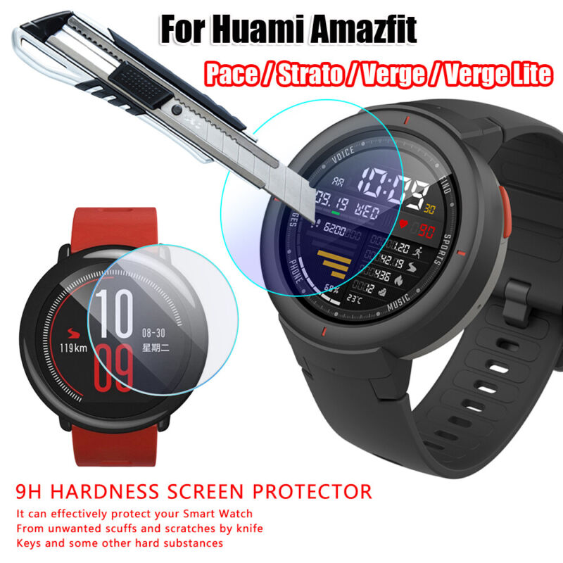 For Huami Amazfit Pace Stratos Verge Lite Tempered Glass Screen Protective Film