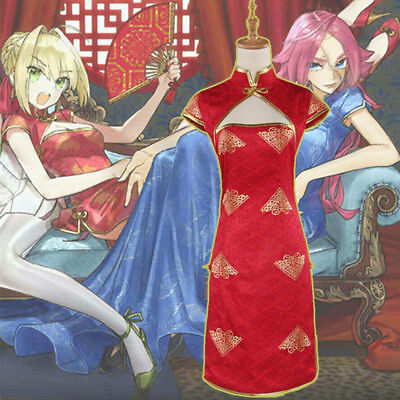 Fate Extella Link Nero Red Saber Sexy Dresses Cheongsam Chi-Pao Cosplay Costumes