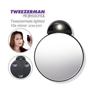 Tweezerman #6762-EXP 10x Lighted Magnifying Mirror