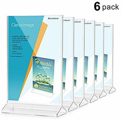 Store Sign Holders Acrylic Holder-table Card Display-4 X 6 Inches Clear Menu Ad