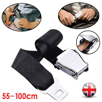 Adjustable Airplane Seat Belt Extension Extender Airline/Buckle Aircraft  UK New