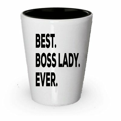 Boss Lady Shot Glass - Best Gifts - Decor For Office Room Art Accessories... ()
