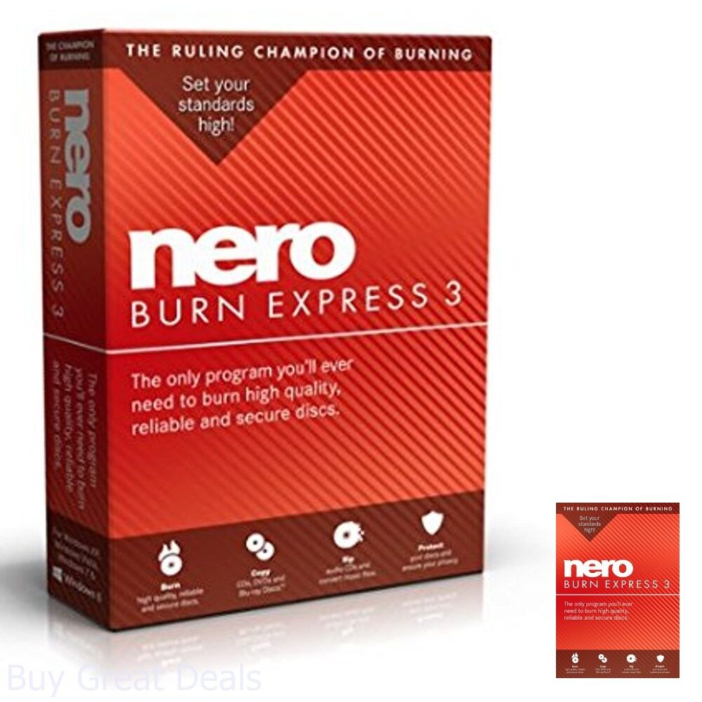 Details about Nero Burn Express 3 Best Burning Software Copy And Burn CD  DVD Blu-ray Disc NEW
