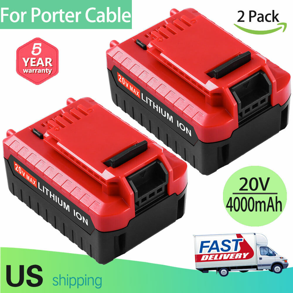 2 Pack 20V Max 5.0Ah Lithium Battery for Porter Cable