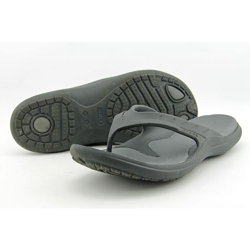 b714f1fec796 Crocs Modi Sport Flip Flops Unisex Black graphite Mens 11 Womens 13 ...