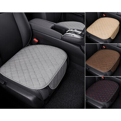 Universal Car Seat Cover Non-slip Linen Breathable Front Cushion Pad Protector  ()