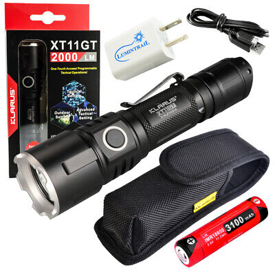 Klarus Upgraded XT11GT SUPER BUNDLE w/ XT11GT LED Compact Ta