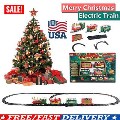 US Luxury Electric Christmas Train Tracks Set Kids Toy Xmas Gift Tree Decor USA