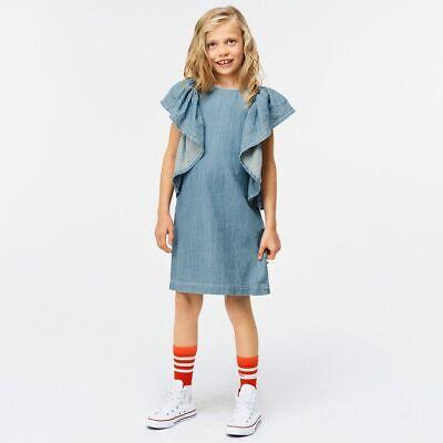 Molo girls denim ruffle dress size 3-4