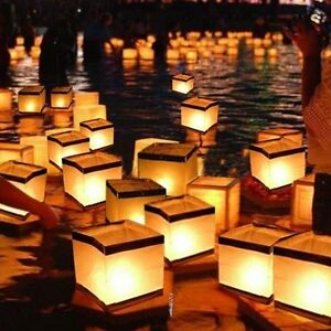 4.3 Inch Water Floating Candle Lanterns Outdoor Biodegradable Lantern 4 Praying
