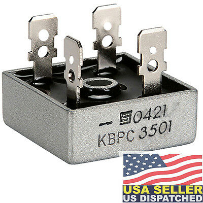 Solid State Kbpc3501 Bridge Rectifier 1ph 35a 100v Qc 1 Piece