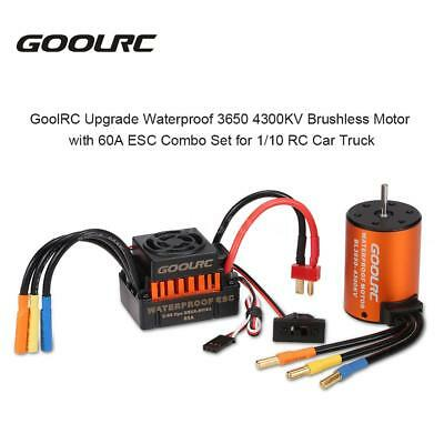 Waterproof 3650 4300KV Brushless Motor w/ 60A ESC Combo Set for 1/10 RC Car W9M5