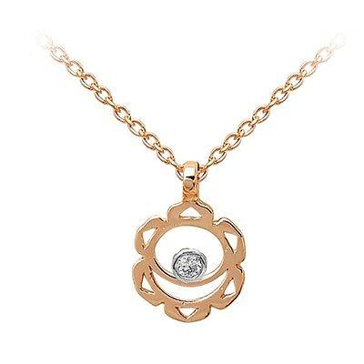 Hot Diamonds Damen Halskette Apple ECHTER DIAMANT 18K rosé Sterling Silv UVP€149