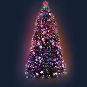 Jingle Jollys 2.4M 8FT LED Christmas Tree Xmas Optic Fiber Multi Colour Lights