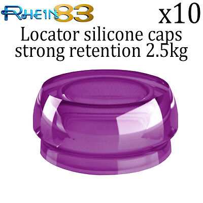 10x Rs Dental Implant Locator Silicone Strong Retention Caps Professional Use
