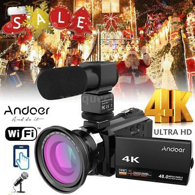 ANDOER WIFI 4K HD 1080P 48MP 3'' TOUCHSCREEN DIGITAL VIDEO CAMERA RECORDER -