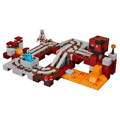 LEGO Minecraft The Nether Railway 21130 Best Gift Toy For Kids,
