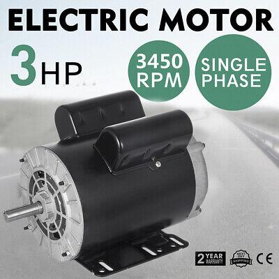 3 Hp Spl 1 Phase Electric Air Compressor Duty Motor 56 Frame 58 Shaft 3450rpm.