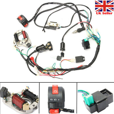 CDI Wire Harness Wiring Loom Coil Rectifier For 50 70cc 90cc 110cc ATV Quad Set