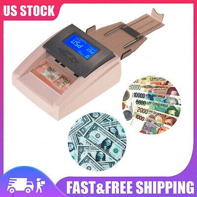 Desktop Money Counter Counting Counterfeit Machine Bank Checker Detector Q4K8