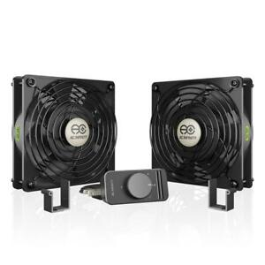 NEW AC Infinity AXIAL S1225D, Muffin Box Fan with Speed Controller 115V AC 120mm by 25mm