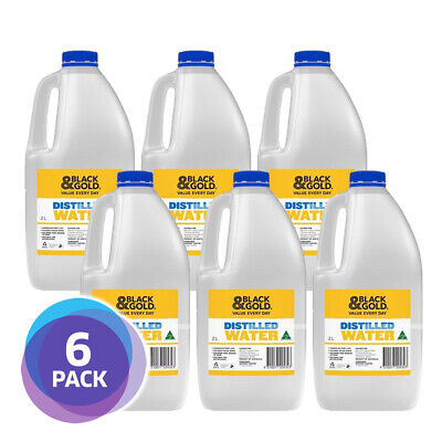 DISTILLED WATER 2 LITRES x 6 BOTTLES - FREE POST (MELBOURNE ONLY)