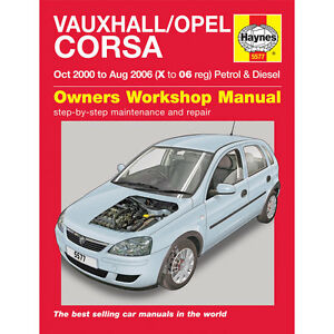 Haynes Manual Vauxhall Corsa 2000 - 2006 Car Workshop Repair Book Maintenance