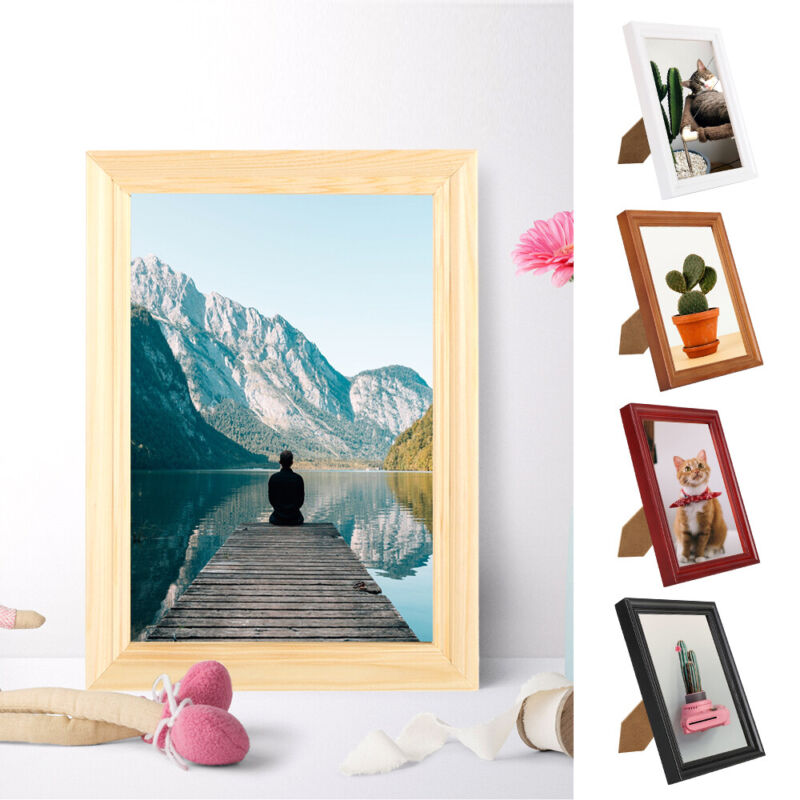 Poster Photo Picture Display Frames Solid Wood Modern Shabby