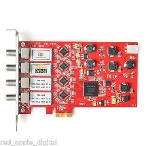 TBS TBS 6904 PCI-E DVB-S2 Quad Tuner Satellite TV card Watch Record FreeSat  HD