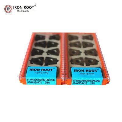 10p Cbn Wnga080408 Bnc200 Cnc Metal Lathe Cutting Tool Turning Carbide Insert