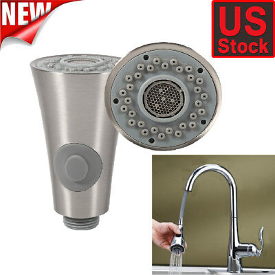 (ABS Plastic Kitchen Sink Faucet Pull Down Steel Spray Shower Head Replacement US)