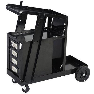 Welding Machine Welder Tool Cart Mig Tig Arc Plasma Storage W 4 Drawer Cabinet